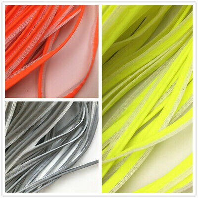 100m New Reflective Tape Strip Sew-On Fabric Trim Safty strip 3color 10mm