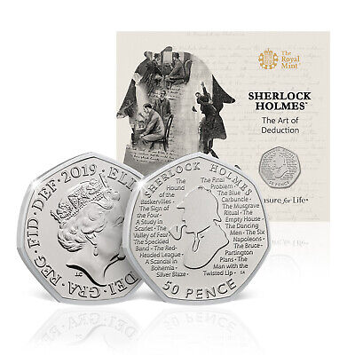 Sherlock Holmes 50p Royal Mint 2019 UK Limited Edition BU Coin