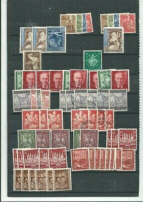 GERMANY OLD MIXTURE ON DOUBLE SIDED PAGE TOTALLY UNSORTED [ref 7]