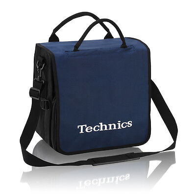 Technics DJ Record Bag Ruck Sack 50 vinyl LP Navy White Logo b-stock item