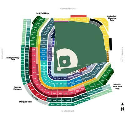 BUY 1 to 10 CHICAGO CUBS LOWER LEVEL TIX vs.BREWERS- 8/3/19- Section 229