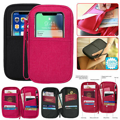 Passport Holder Case Travel Document Wallet Cards iDs Ticket Protector Bag Cover