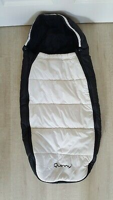 Quinny Buzz / Xtra / Zapp Footmuff Cosytoes Black White Limited Edition *rare*