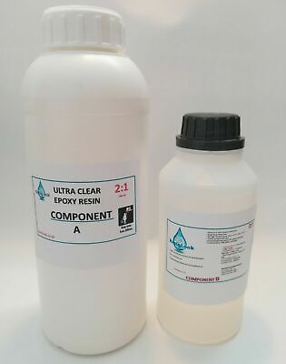 Epoxy Resin 1KG Low Viscosity Ultra Clear  UV Stable. LIMITED OFFER