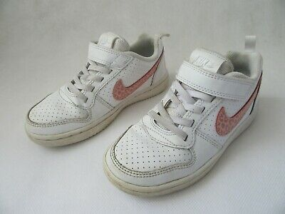 Girls Nike Trainers Pumps Court Borough Low TD White Rust Pink UK 11 EU 28.5