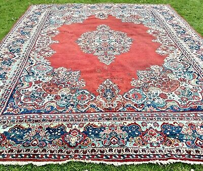 OLD fine hand-knotted VINTAGE Persian Oriental FLORAL RUG carpet 430 x 330cm XL