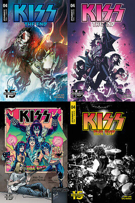 Kiss The End #4 Cover A B C D Set Dynamite Comics PREORDER - SHIPS 07/08/19
