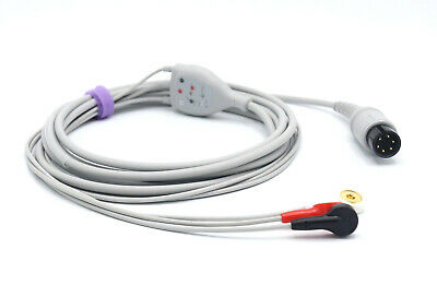 Mindray Datascope 0131000079 ECG Cable 6 Pin 3 Lead Snap AHA - Same Day Shipping