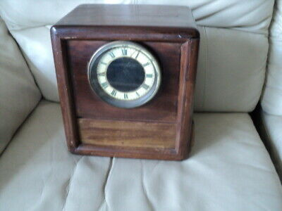 Antique wooden mantel clock case -no movement