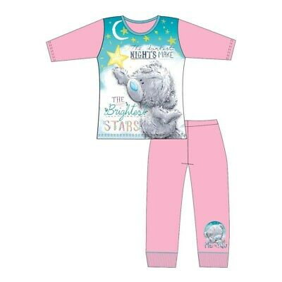 Girls Kids Tatty Teddy Pyjamas Nightwear PJ's Long Sleeve Pink Me to You
