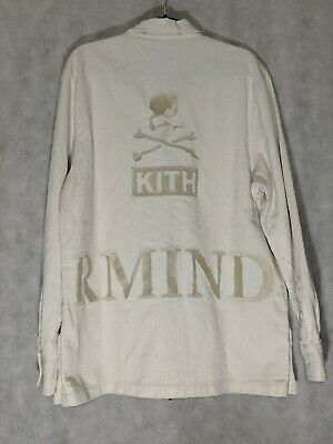 09841f60e94aa Mastermind Japan x KITH Ginza White Corduroy Golden Zipper Jacket Large