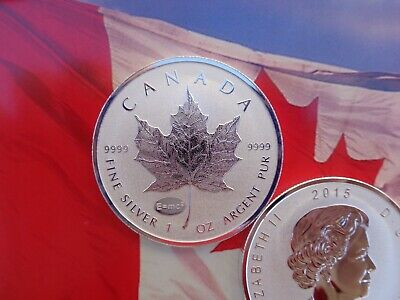 2015 Canadian Maple Leaf coin Reverse Proof E=mc2 Privy .9999 fine silver