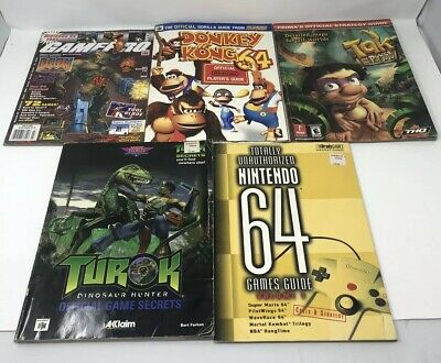 Lot of5 Nintendo N64 Strategy Official Game Players Guide -Tak Donkey Kong Turok