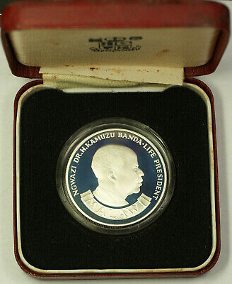 1975 Malawi Reserve Bank 10th Anniversary 10 Kawacha Proof Coin with OGP