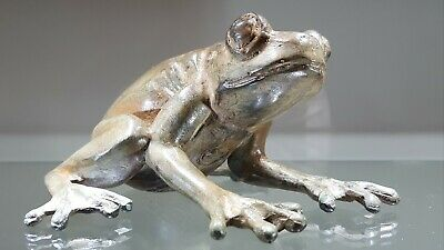 Antique French Solid Bronze Frog signed P. Chenet