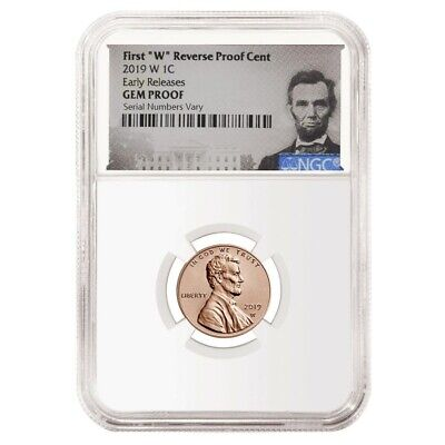 2019 W Reverse Proof Lincoln Penny Cent Comm. NGC Gem PF ER (Lincoln Label)