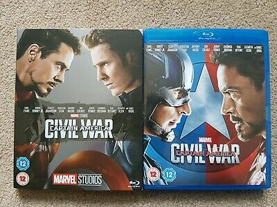 MARVEL MCU CAPTAIN AMERICA: CIVIL WAR Blu-ray & Phase 3 Collectible Sleeve *NEW*