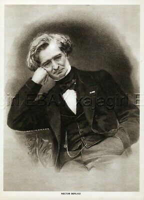 MUSICIAN Orchestra Hector Berlioz, 1917 Vintage Print