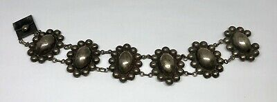 Antique Taxco Mexico Sterling Silver Hand Wrought Bracelet