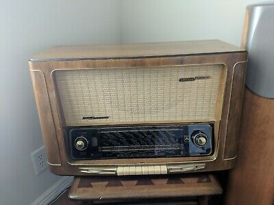 Vintage Grundig Radio Model 4040W /3D Tube Radio Rare Works
