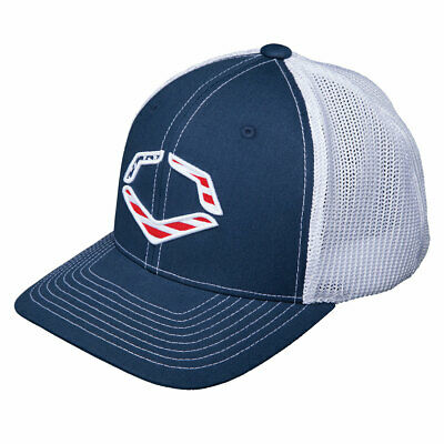 c355d0b63377d8 Evoshield USA Logo Flexfit Baseball/Softball Trucker Hat - Navy/White - S/