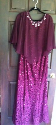 Ignite Evenings New York Burgundy Merlot Eveing Gown Mother Of The Bride 16W