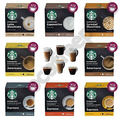 Dolce Gusto Starbucks, 8 Flavours to Choose From, Pack of 12, 24, 36 & 72 Pods