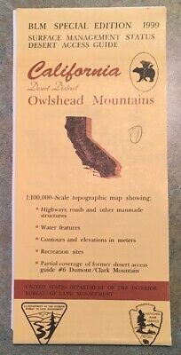 Usgs Blm Edition Topographic Map California Owlshead Mountains Desert District