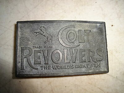 Colt Revolvers Belt Buckle - The World's Right Arm