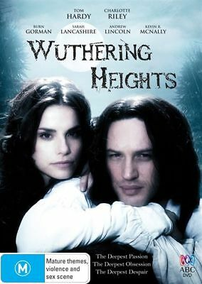 Wuthering Heights MOVIE DVD 2009 Region 4 Rare Tom Hardy
