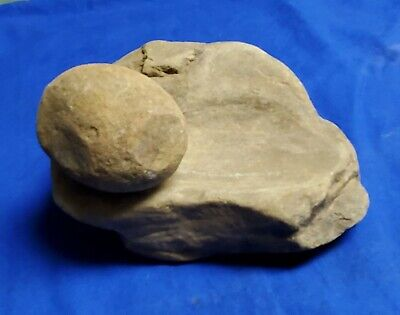 Se Ok Paleolithic Grinding Stone Metate Mortar Pestle Mano Arrowhead Artifact