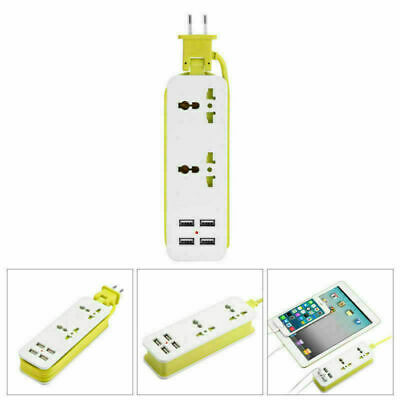 EU/UK/US Plug 6-Ports Extension Socket Wall Charger Outlet Travel Power Strip US