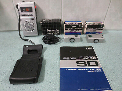 Classic Olympus Pearlcorder SD + tuner + voice actuator + phone pickup + manual