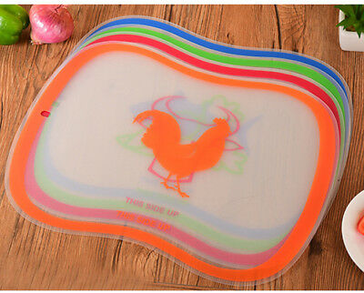 New Kitchen Plastic Chopping Block Meat Vegetable Cutting Board Non Slip Board