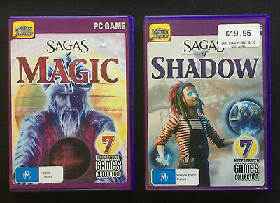 Sagas of Magic & Shadow Hidden Object Adventure Collections 14 Games on 2 Discs