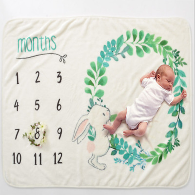 Newborn Baby Infants Milestone Blanket Mat Photography Prop Monthly Growth UK