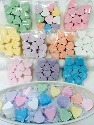 Mini Bath HEARTS Fizzers Bath Bombs 6 12 50, 100, Gift Wrapped heart & marbles