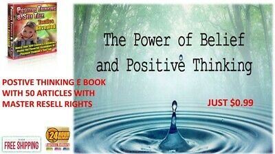 POSTIVE THINKING E BOOK PDF + 50 ARTICLES WITH MASTER RESELL RIGHTS just $0.99