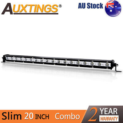 "20"" inch 90W Combo LED Light Bar CREE Super Slim Offroad Work Lamp single row AU"