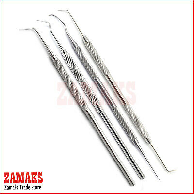 4PCS Tooth Scraper Teeth Care Dentistry Dental Instruments Probes Scalers Tools