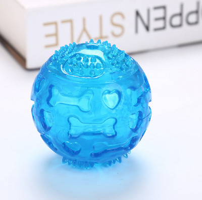 Aggressive Chew Toys for Dogs Indestructible Floating Rubber Sound Squeaky Ball