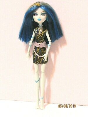 Monster High Frankie Stein Freaky Fusion Recharge Chamber Doll Dress Belt Blue