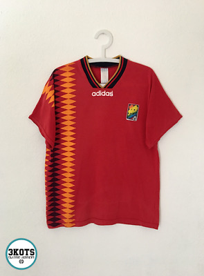3183d368374 SPAIN 1994 Home Football Shirt L Soccer Jersey ADIDAS Vintage Maglia Sony