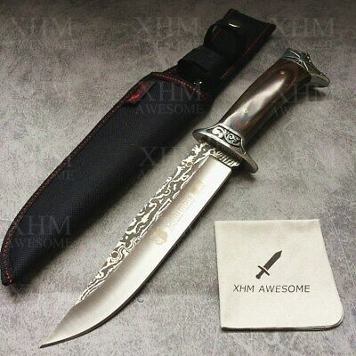 12.2'' Tactical Dagger Knife Outdoor Survival Military Fixed blade Bowie  Knives