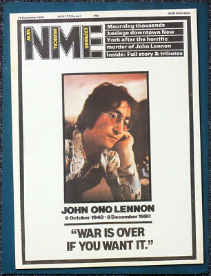 The Beatles Poster Page . Nme 13 Dec 1980 Front Cover John Lennon Shot Dead .O14