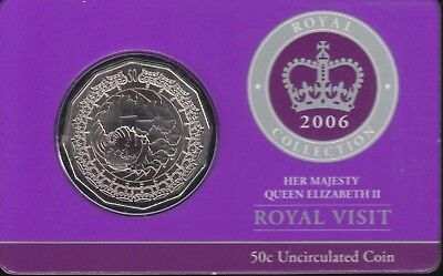 2006 50c Royal Visit Coin UNC - Low Mintage Coin in Card