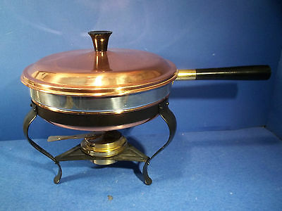 DOURO BM HAND CRAFTED  2 Qt COPPER CHAFING DISH  PORTUGAL  #M041 WITH PAPERWORK