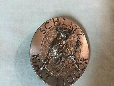 Vintage Indiana Metal Craft 1976 Schlitz Malt Liquor Belt Buckle.