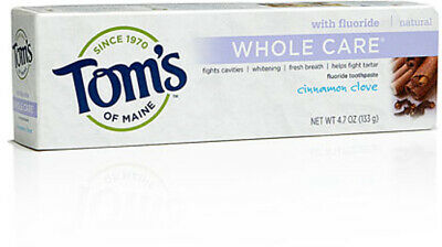 Whole Care Toothpaste, Tom's of Maine, 4.7 oz Cinnamon Clove