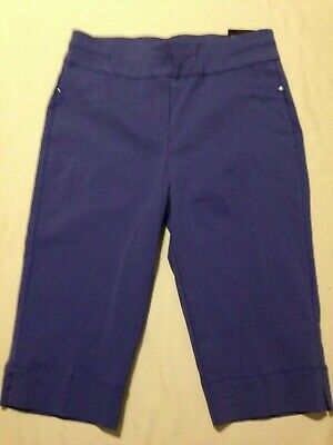 nwt Alfred Dunner Allure  purple Pull-On Capri Pants women's size 8 Petite